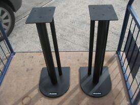 Atacama Nexus 600mm speaker stands, black steel