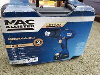 MacAllister MDD144-2Li 14.4 Volt Cordless Drill Driver