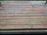 Solid mahogany floorboards, about 35 sq/m (price reduced)