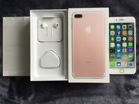 APPLE IPHONE 7 32GB ROSE GOLD, UNLOCKED TO ORANGE/T-MOBILE/EE/VIRGIN, MINT CONDITION BOXED
