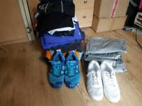 Mens clothes bundle+ 2 pairs of trainers+ 4x sauna trousers