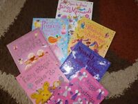 A COLLECTION OF 7 PRINCESS, FAIRY AND ANGELS ACTIVITY BOOKS