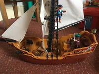 Playmobil Pirate Ship Excellent condition