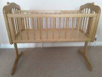 Mothercare Wooden Baby Swinging Crib