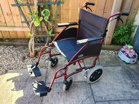 Ultra Lightweight Aluminium Wheelchair - Handle Bar Brakes - Days Swift Wheel chair