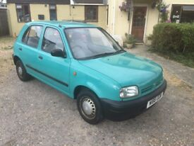 Nissan Micra 1.0L 5dr Hatchback, Prussian Turquoise Blue, outstanding condition throughout
