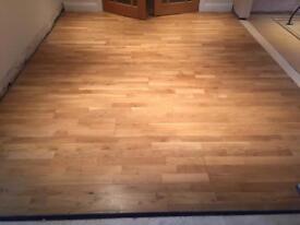 Engineered real wood floor