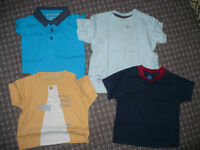Bundle of 14 summer clothes for boy 9-12mths. Very good and good condition!
