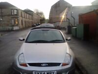 ford street ka convertable full leather two seats mot and tax alloys cd full servis