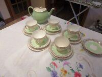5 Piece Green Tea Set and Teapot