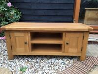 Oak TV Unit as new