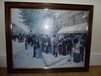 Paris On The Boulevard Print with Frame