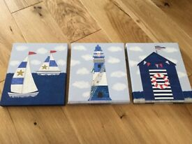 Set of 3 Nautical Pictures
