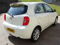 NISSAN MICRA 1.2 ACENTA 5d AUTO 79 BHP NAVIGATION SYSTEM + BLUETOOTH + 1 OWNER FROM NEW