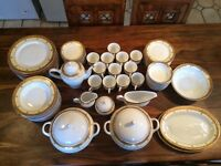 24 Carat Gold plated Dinner and Tea set, 81 piece set