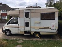 Ford Motorhome / Campervan, 4 Berth, 1 year MOT, Just had major Service and £2000 spent on it!