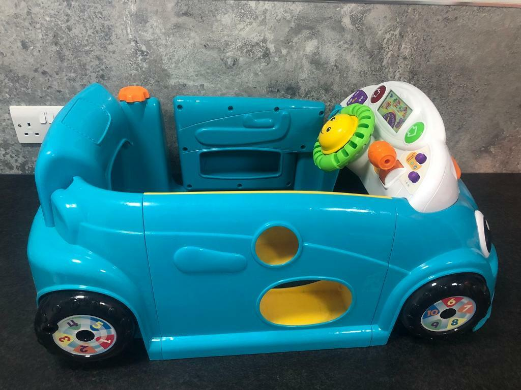 Fisher-Price Laugh & Learn Crawl a Round Car - Blue | in Shotton ...