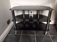 3 TIER TV / DVD / SKY BOX STAND ON CASTERS ( LOCKABLE )