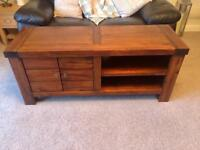 Hardwood Tv Unit and side table