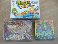 Mousetrap - Teenage Mutent Ninja Turtles Game and Harry Potter Dragon Alley game.