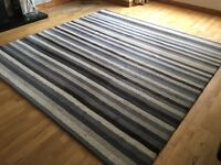 Large striped rug 230cm x 234cm (90'' x 92'')