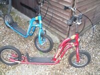 x2 iScoot Push Scooter Bikes