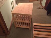 Solid wood (kenyan made) cot and changing table