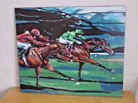 Superb genuine original painting 'Night Race' by Louise Mizen