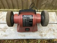 Rexon Bench Grinder but fitted with 2 polishing wheels