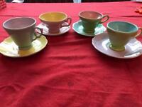 Delightful tea cups and saucers.