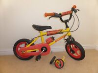 "Boys 12"" Silverfox Digger Bike with Stabilisers"