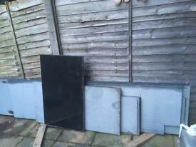 Black granite kitchen worktops of various sizes