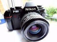 Nikon F301 35mm SLR Film Camera + Nikon AF Nikkor 35-70mm f/3.3-4.5 Lens