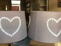 Heart button light or lamp shades