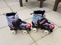 Quad roller skates for sale hardly used