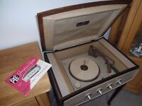 PYE TYPE 1005 VINTAGE RECORED PLAYER WITH STAND.