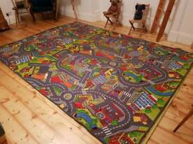 Large children's car mat toy town bedroom play rug