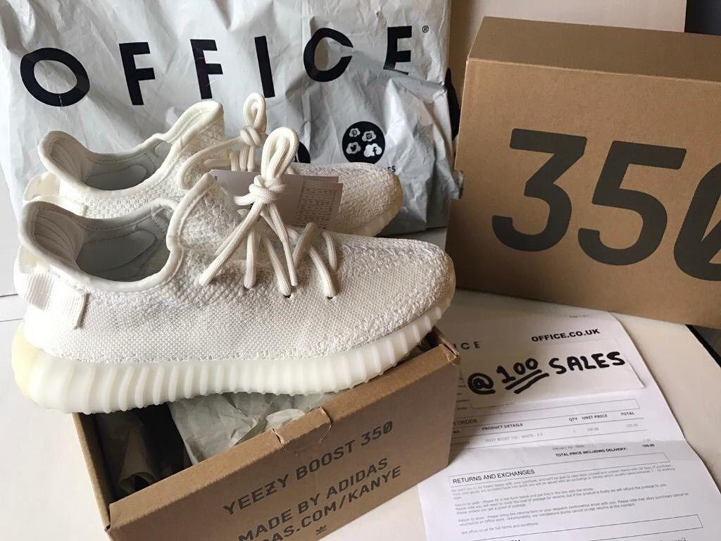 Adidas x Kanye West Yeezy Boost 350 V2 Cream White UK5.5 US6 EU38 OFFICE/OFFSPRING Receipt 100sales