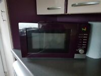 Purple coloured Microwave