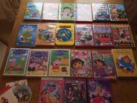 25 children's dvds - Peppa, Dora, Thomas, Fireman Sam, etc.