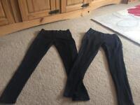 Ladies black pointelle leggings