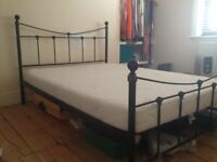 Nice Double Bed with Memory Foam Mattress, Charlton, Greenwich - £45.00