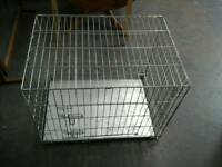 Folding Dog cage with metal base