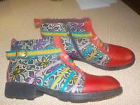 Retro Ankle Leather Boots.