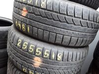 Part worn tyres / winter tyres /255/55/18 x 2 (piair) barkink & ilford / 07961201205