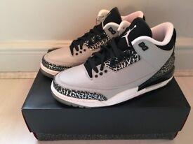 Brand New UK7 Jordan 3 Wolf Grey £135 (Nike Supreme Air Max Bape Yeezy Kanye Adidas Kobe Huarache)
