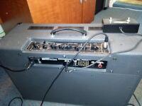 VOX TWIN SPEAKER AMP & FOOT S/W.