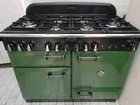 Rangemaster Elan Dual Fuel Range Cooker in British Racing Green 110CM