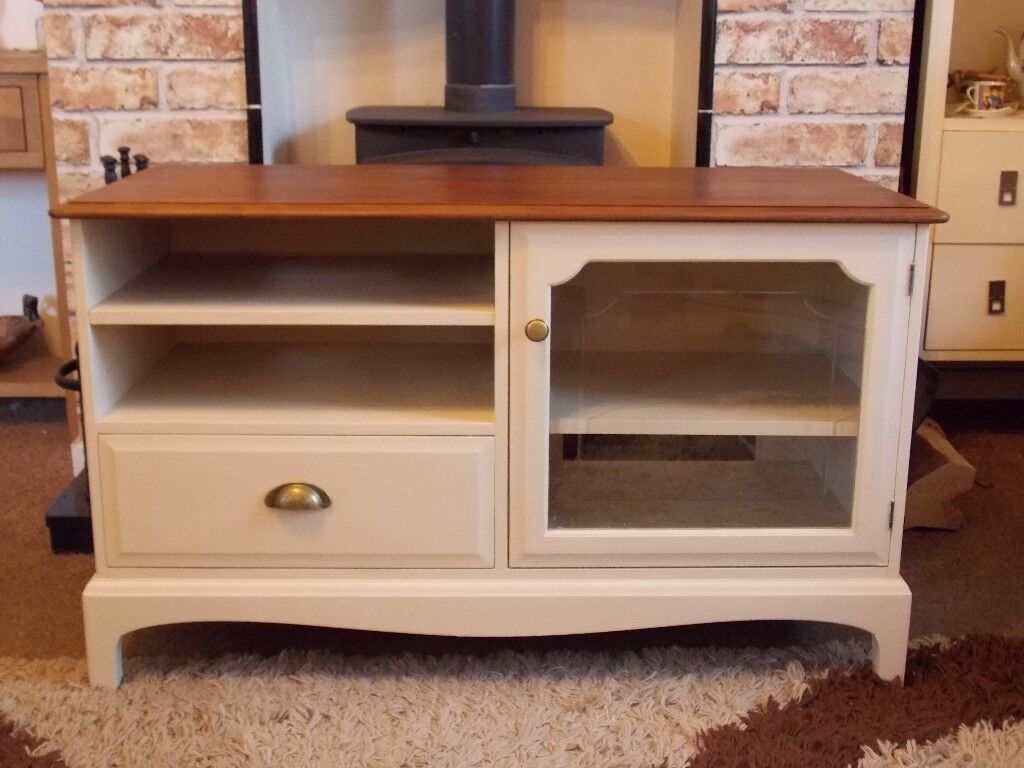 Shabby Chic Tv Cabinet Painted In Annie Sloan Old Ochre