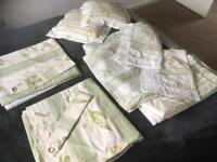 Complete Laura Ashley double bedroom set including curtains